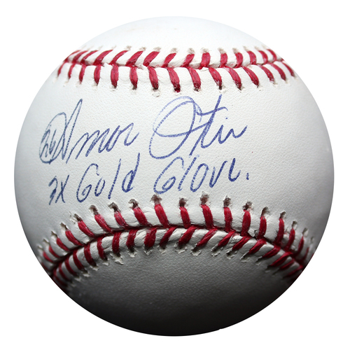 Photo of Autographed Baseball: Amos Otis 3x Gold Glove