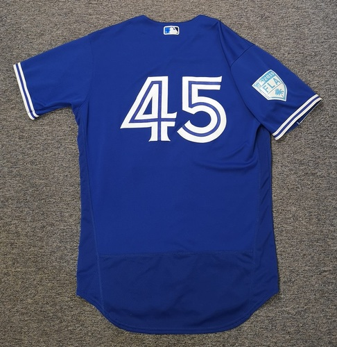 Photo of Authenticated Team issued 2019 Spring Training Jersey - #45 Thomas Pannone. Size 44