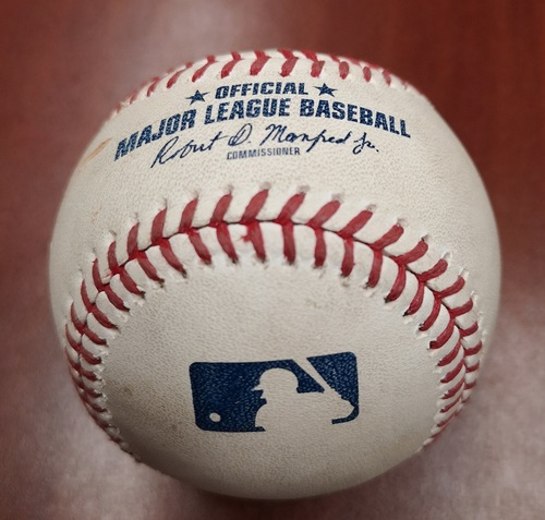 Photo of Authenticated Game Used Baseball - Ryan Tepera strikes out Michael Chavis (May 20, 19 vs BOS). Top 9