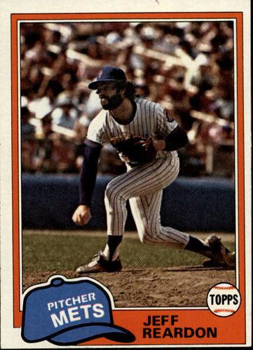 Photo of 1981 Topps #456 Jeff Reardon RC