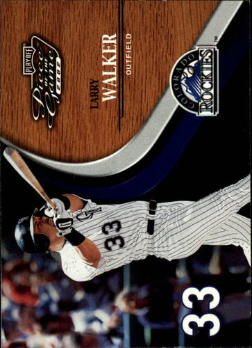 Photo of 2002 Playoff Piece of the Game #40 Larry Walker