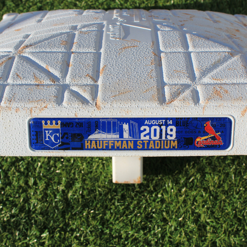 Photo of Game-Used 3rd Base: Paul DeJong 64th Career Home Run (Innings 6-9 - KC vs STL - 8/14/2019)