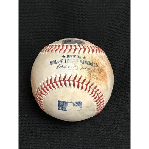 Photo of 2019 Season Game-Used Baseball, St. Louis Cardinals at Arizona Diamondbacks 9/25/19: Jose Martinez Tripled Off of Merrill Kelly