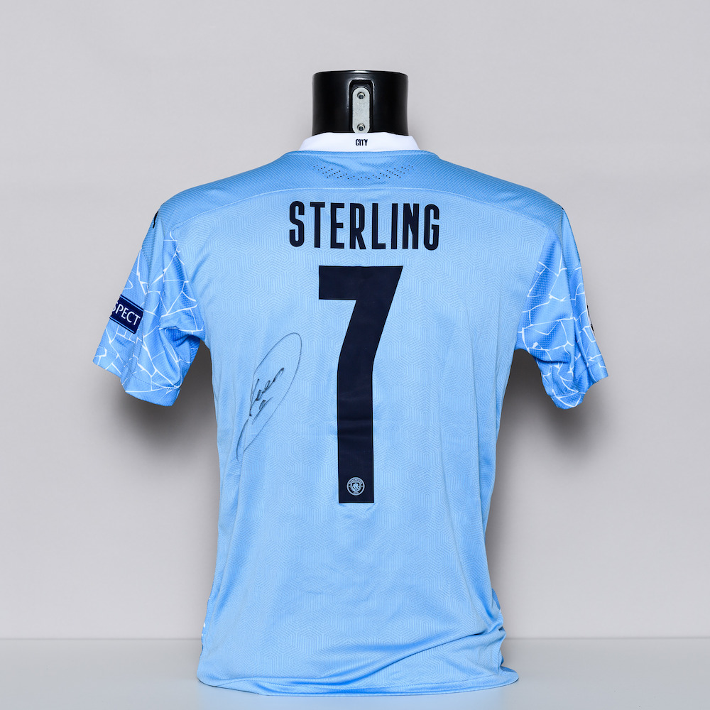 20/21 Manchester City FC Jersey - signed by Raheem Sterling