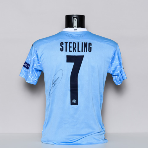 Photo of 20/21 Manchester City FC Jersey - signed by Raheem Sterling