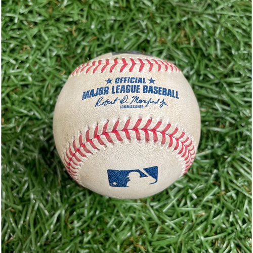 Photo of Spring Training Game Used Baseball: Yoshitomo Tsutsugo single off Thad Ward - Bottom 1 - March 26, 2021 v BOS