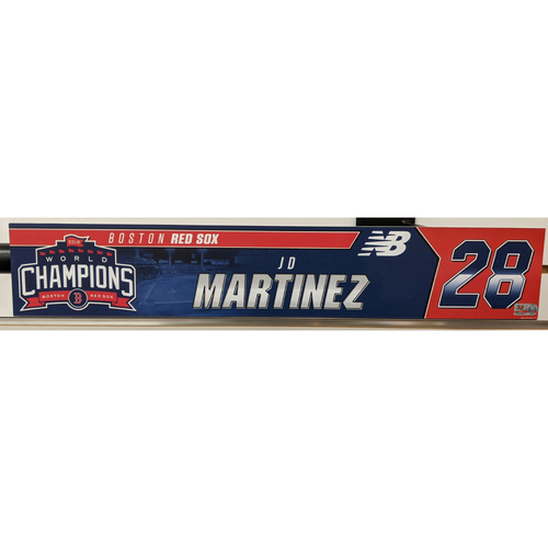 Photo of J.D. Martinez #28 Team Issued Locker Tag