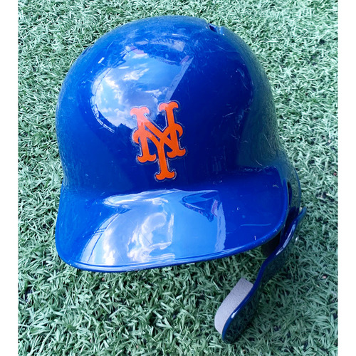 Photo of Amed Rosario #1 - 1-5, Grand Slam, 4 RBI's and 1 Run Scored - Game Used Blue Batting Helmet - Size 7 1/4 - Mets vs. Marlins - 9/23/19