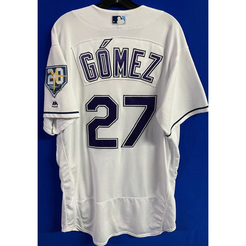 Photo of Game Used (4 Games) Devil Rays Jersey: Carlos Gomez - 2018 Season (See Description for Details)