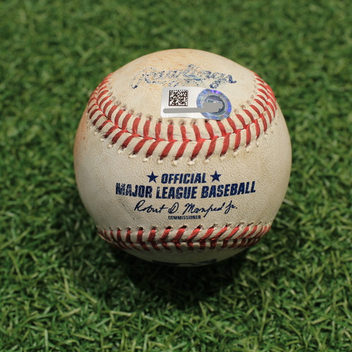 Photo of Game-Used Baseball: Andrew Vaughn 75th Career Hit (CWS@KC 7/28/21)