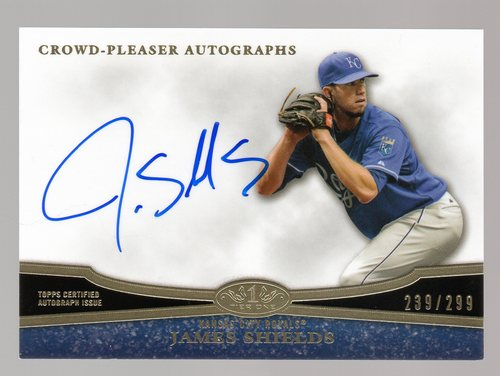 Photo of 2013 Topps Tier One Crowd Pleaser Autographs #JS1 James Shields/299