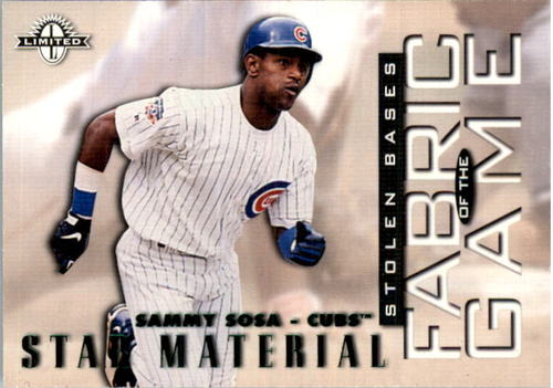 Photo of 1997 Donruss Limited Fabric of the Game #7 Sammy Sosa S