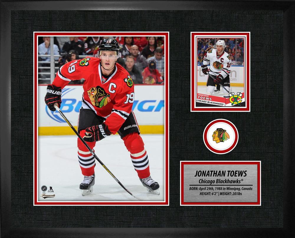 Jonathan Toews - Framed Blackhawks PhotoCard