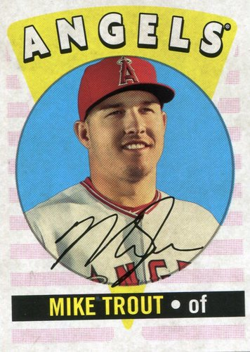 Photo of 2017 Topps Archives '16 Retro Original #RO14 Mike Trout