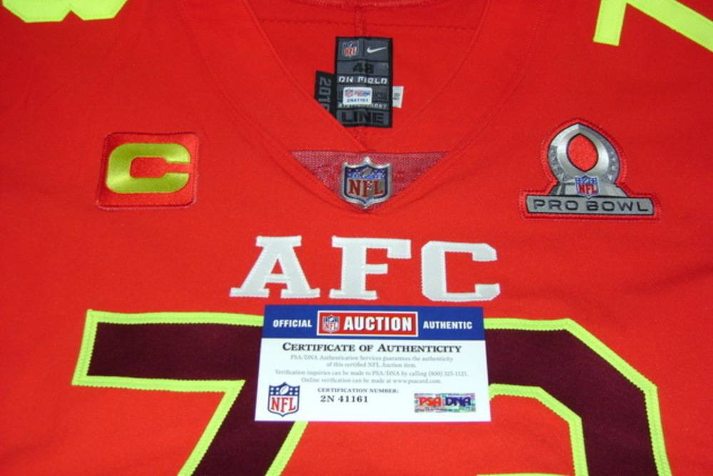super popular 7bc72 32f16 NFL Auction   NFL - BROWNS JOE THOMAS GAME ISSUED AFC PRO ...