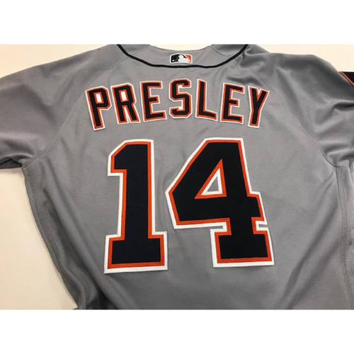 Photo of Game-Used Alex Presley Road Jersey