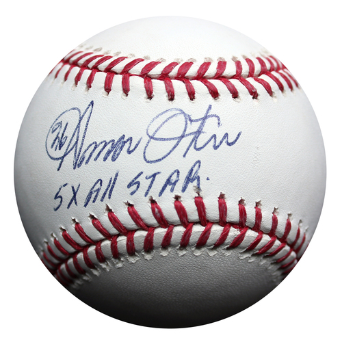 Photo of Autographed Baseball: Amos Otis 5x All Star