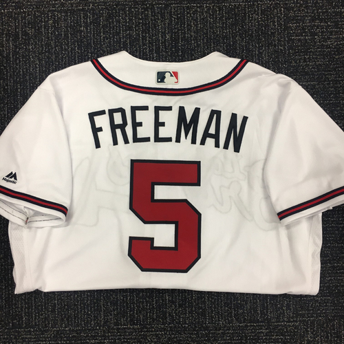Photo of Freddie Freeman Autographed, Game Used Los Bravos Jersey