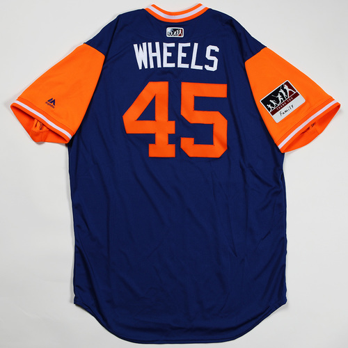 """Photo of Zack """"Wheels"""" Wheeler New York Mets Game-Used Jersey 2018 Players' Weekend Jersey"""