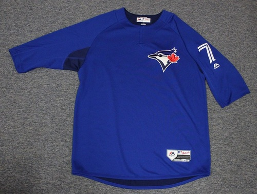 Photo of Authenticated Team Issued Batting Practice Jersey - #7 Richard Urena. Size L.