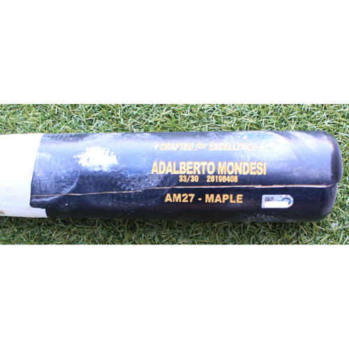 Photo of Game-Used Broken Bat: Adalberto Mondesi Grounded into Double Play (KC @ CWS - 5/29/19)