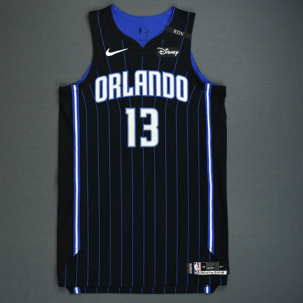 Isaiah Briscoe - Orlando Magic - 2018-19 Season - Mexico Games - Game-Worn Black Statement Edition Jersey - Dressed, Did Not Play