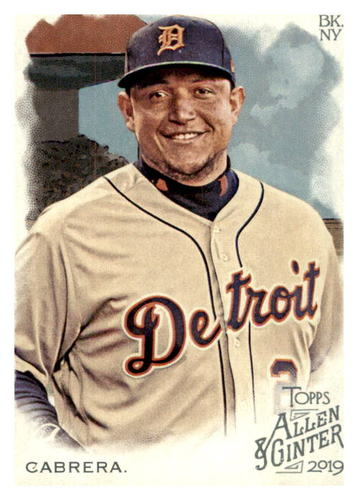 Photo of 2019 Topps Allen and Ginter #112 Miguel Cabrera