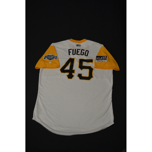 "Photo of 2019 Little League Classic - Game Used Jersey - Michael ""Fuego"" Feliz,  Chicago Cubs at Pittsburgh Pirates - 8/18/2019 (Size - 48)"