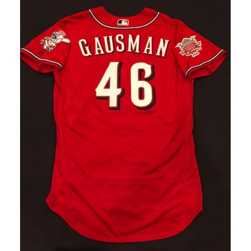 "Photo of Kevin Gausman -- Game-Used ""Los Rojos"" Jersey -- D-backs vs. Reds on 9/6/19 -- Jersey Size 44"