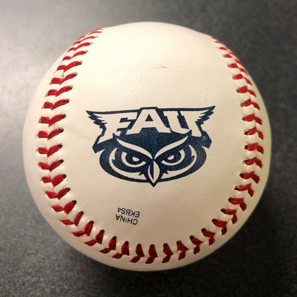 Photo of Baseball with Florida Atlantic Logo