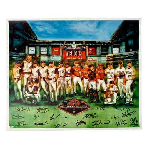 Photo of 20th Anniversary Team Signed Limited Edition 20x24 Canvas Print