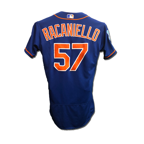 Photo of Dave Racaniello #57 - Team Issued Blue Alt. Home 2019 Spring Training Jersey