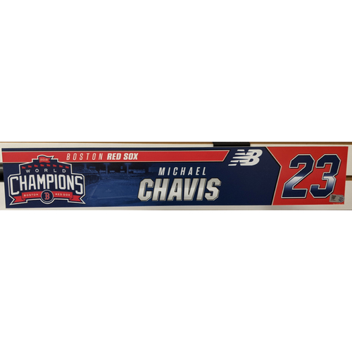 Photo of Michael Chavis #23 Team Issued Locker Tag