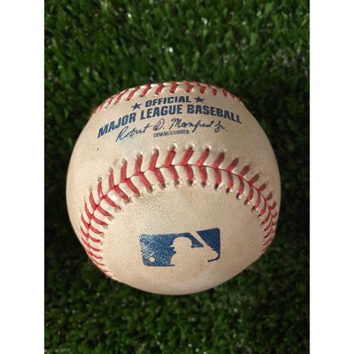 Photo of Anthony Rizzo Game Used Hit Single Baseball - April 29, 2021 off Josh Tomlin