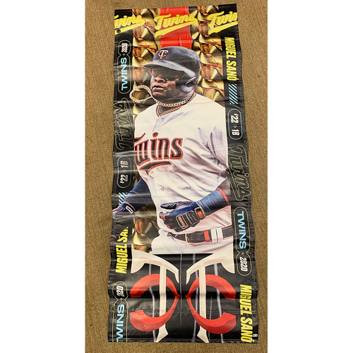Photo of 2020 Minnesota Twins Team-Issued Street Banner - Miguel Sano