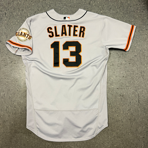 Photo of 2021 Game Used Road Jersey worn by #13 Austin Slater on 7/3 @ ARI - HR #8 of 2021 & 7/4 @ ARI - HR #9 of 2021 - Size 46