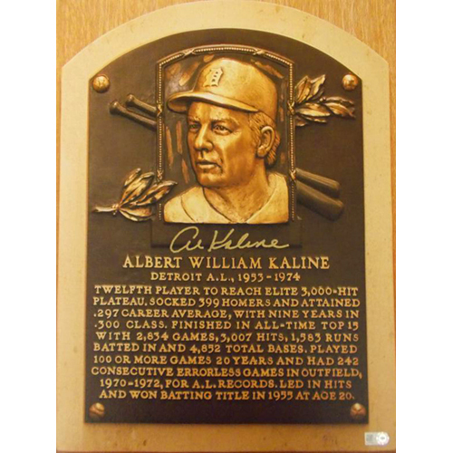Photo of Detroit Tigers Al Kaline Autographed HOF Canvas (small)