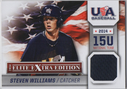 Photo of 2014 Elite Extra Edition USA Baseball 15U Game Jerseys #4 Steven Williams