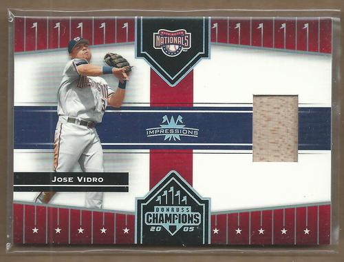 Photo of 2005 Donruss Champions Impressions Material #65 Jose Vidro Bat T5