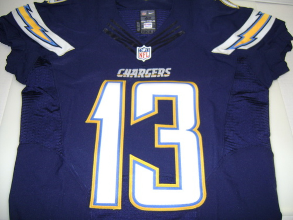 CHARGERS - KEENAN ALLEN SIGNED AUTHENTIC CHARGERS JERSEY - SIZE 42