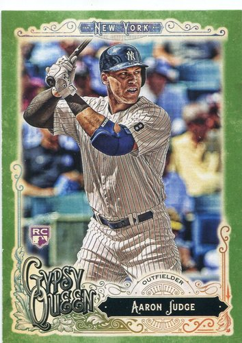 Photo of 2017 Topps Gypsy Queen Green #168A Aaron Judge