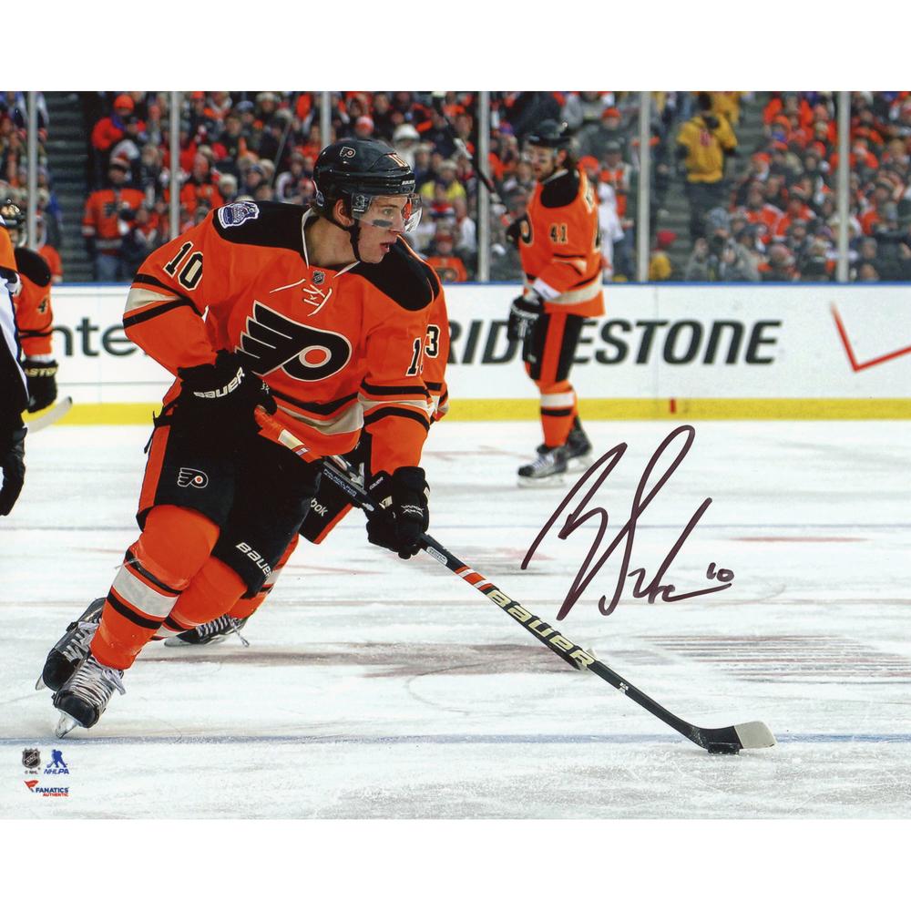 Brayden Schenn Philadelphia Flyers Autographed Winter Classic 8