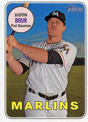 Photo of 2018 Topps Heritage #113 Justin Bour