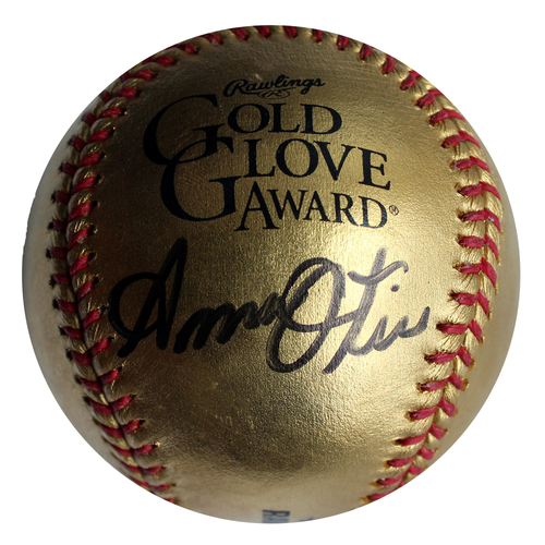 Photo of Autographed Baseball: Amos Otis Gold Glove