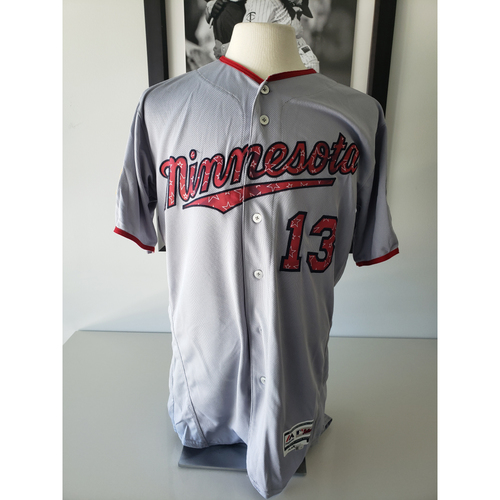 Photo of 2018 Game-Used Stars and Stripes Jersey - Gene Glynn