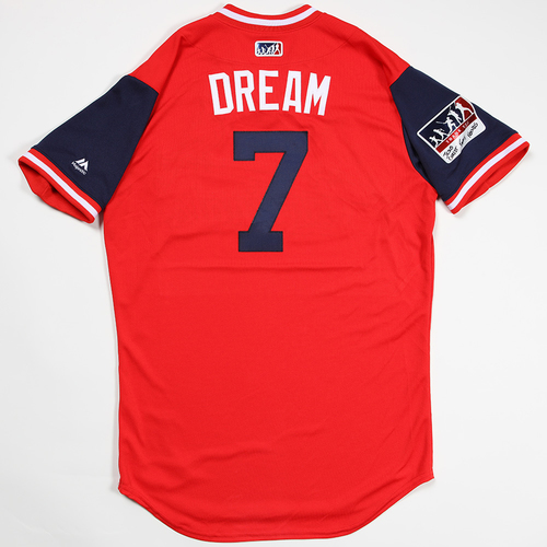 "Photo of Luke ""Dream"" Weaver St. Louis Cardinals Game-Used 2018 Players' Weekend Jersey"