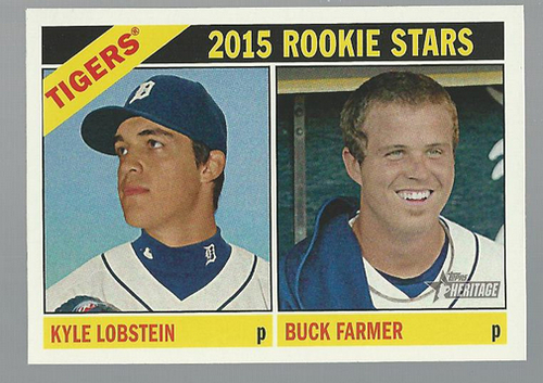 Photo of 2015 Topps Heritage #209 Buck Farmer RC/Kyle Lobstein RC