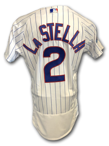 Photo of Tommy La Stella Game-Used Jersey -- Rockies vs. Cubs -- 10/2/18 -- 2018 Postseason Wild Card