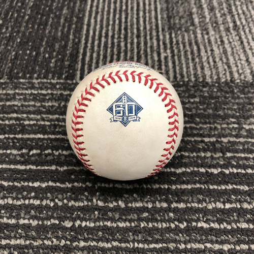 Photo of 2018 Game Used Baseball - 9/26 vs. San Diego Padres - B-7: Jose Castillo to Abiatal Avelino - Single to LF - CAREER HIT #2