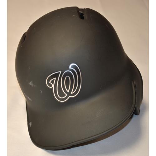 "Photo of Stephen ""STRAS"" Strasburg Washington Nationals Game-Used 2019 Players' Weekend Helmet"